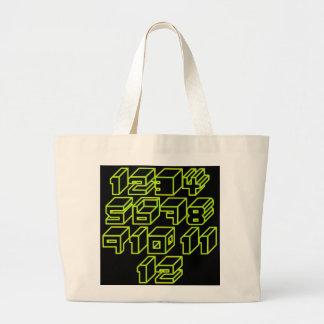1through12 eight jumbo tote bag