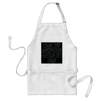 1through12 four adult apron