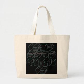 1through12 four jumbo tote bag