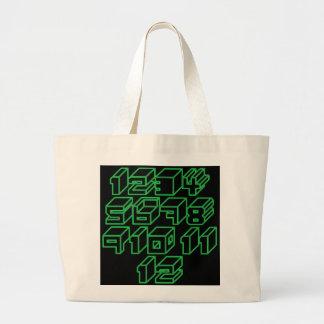 1through12 nine jumbo tote bag