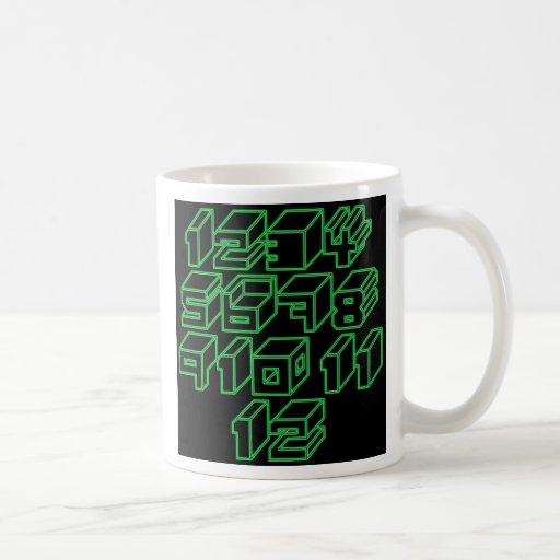 1through12 nueve taza