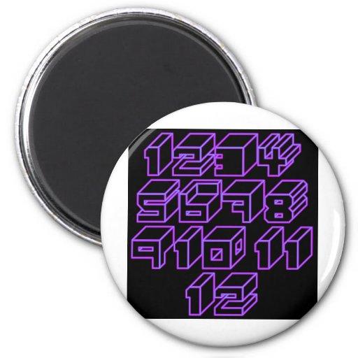 1through12 one 2 inch round magnet