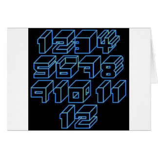 1through12 seven greeting card