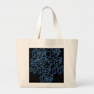 1through12 seven jumbo tote bag
