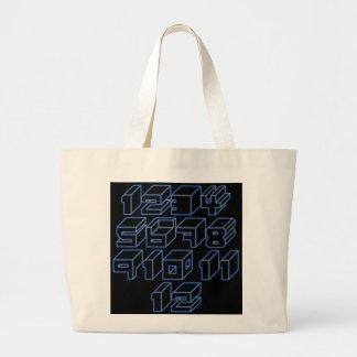 1through12 six jumbo tote bag