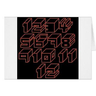 1through12 ten greeting card