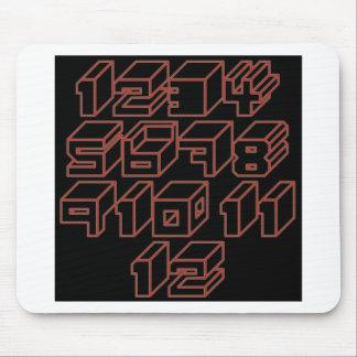 1through12 ten mouse pad