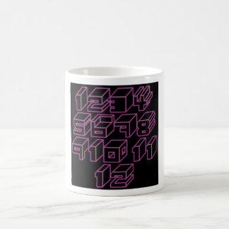 1through12 three coffee mugs