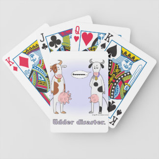 1TSHIRT_udders1 Bicycle Playing Cards