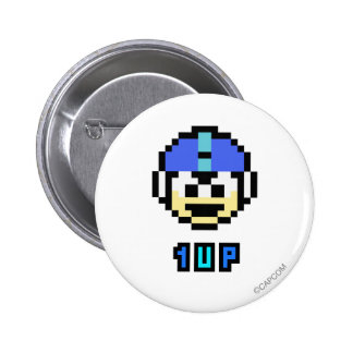 1UP PINBACK BUTTON