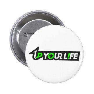 1Up su botón de la vida Pins