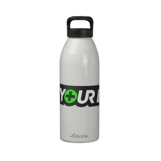1Up su tubo de la hidración de la vida (con el cas Botella De Agua