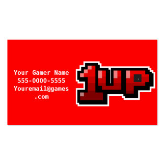 1UP Video Game Gamer Business Cards