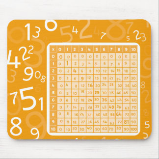 1x1 orange mouse pad
