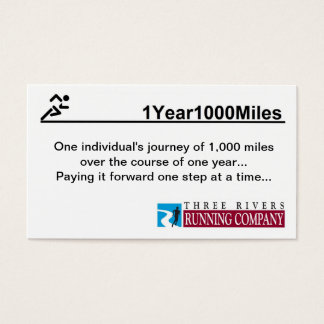 1Year1000 Miles Business Cards