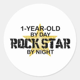 1Year Old Rock Star by Night Sticker