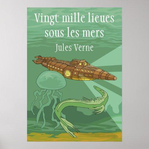 20000 mers sous de los les de los lieues - Jules V Póster