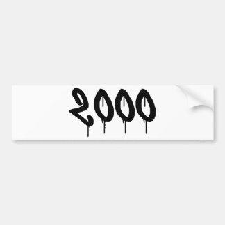 2000 BUMPER STICKER