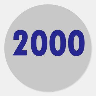 2000 CLASSIC ROUND STICKER