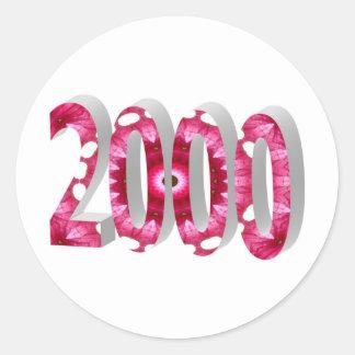 2000 ETIQUETAS REDONDAS