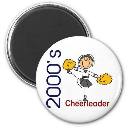 2000's Cheerleader Stick Figure Fridge Magnets