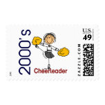 2000's Cheerleader Stick Figure Stamp