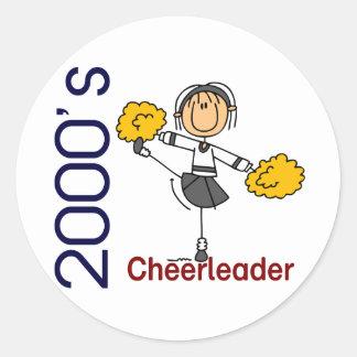 2000's Cheerleader Stick Figure Stickers