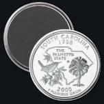 """2000 South Carolina State Quarter magnet<br><div class=""""desc"""">2000 South Carolina State Quarter magnet</div>"""