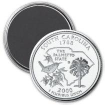 2000 South Carolina State Quarter magnet