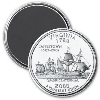2000 Virginia State Quarter magnet