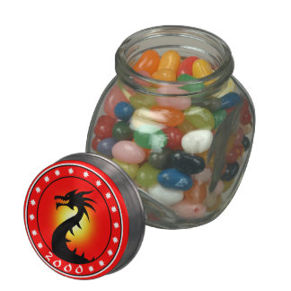2000 Year of the Dragon Jelly Belly Candy Jars
