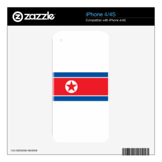 2000px-Flag_of_North_Korea iPhone 4S Calcomanías