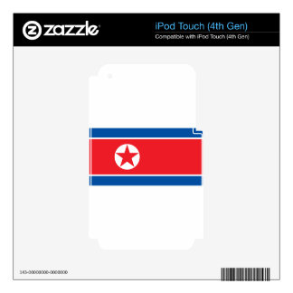2000px-Flag_of_North_Korea iPod Touch 4G Skin