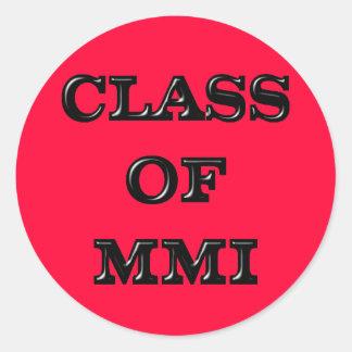 2001 Graduate Classic Round Sticker