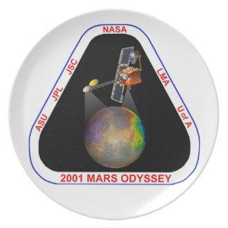 2001 Mars Odyssey Plate