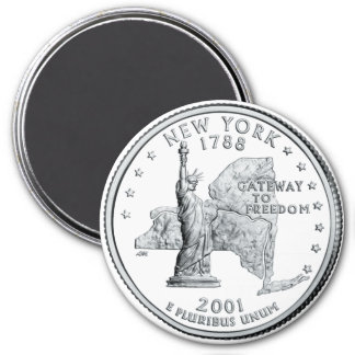 2001 New York State Quarter magnet