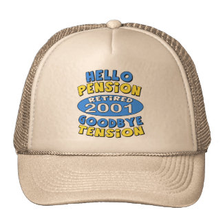 2001 Retirement Trucker Hat