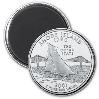 2001 Rhode Island State Quarter magnet