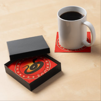 2001 Year of the Snake Beverage Coaster