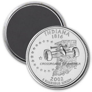 2002 Indiana State Quarter magnet