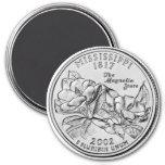 2002 Mississippi State Quarter magnet