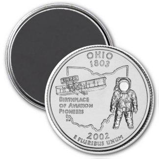 2002 Ohio State Quarter magnet