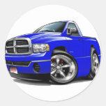 2003-08 camión del azul del espolón de Dodge Etiquetas Redondas