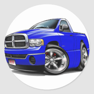 2003-08 Dodge Ram Blue Truck Classic Round Sticker