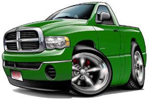 7f1583bf412d1 2003-08 Dodge Ram Green Truck Trucker Hat