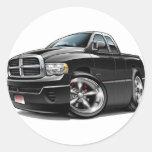2003-08 Ram Quad Black Truck Round Sticker