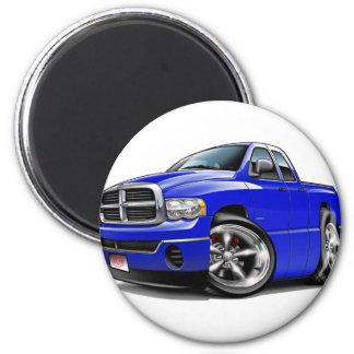 2003-08 Ram Quad Blue Truck 2 Inch Round Magnet