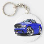 2003-08 Ram Quad Blue Truck Basic Round Button Keychain