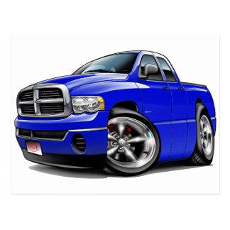 2003-08 Ram Quad Blue Truck Postcard