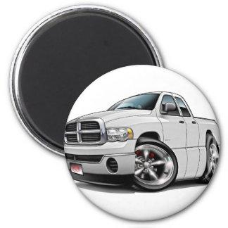 2003-08 Ram Quad White Truck 2 Inch Round Magnet